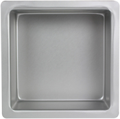 "Square 6""X6""X4"" - Aluminum Cake Pan"