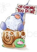 Oh Gnome You Didn't - Stamping Bella Cling Stamps