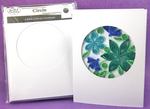 "White Trifold W/Circle Opening - Cards & Envelopes 4""X5.25"" 6/Pkg"