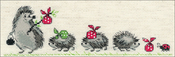 "Hedgehogs (14 Count) - RIOLIS Counted Cross Stitch Kit 9.5""X3.25"""