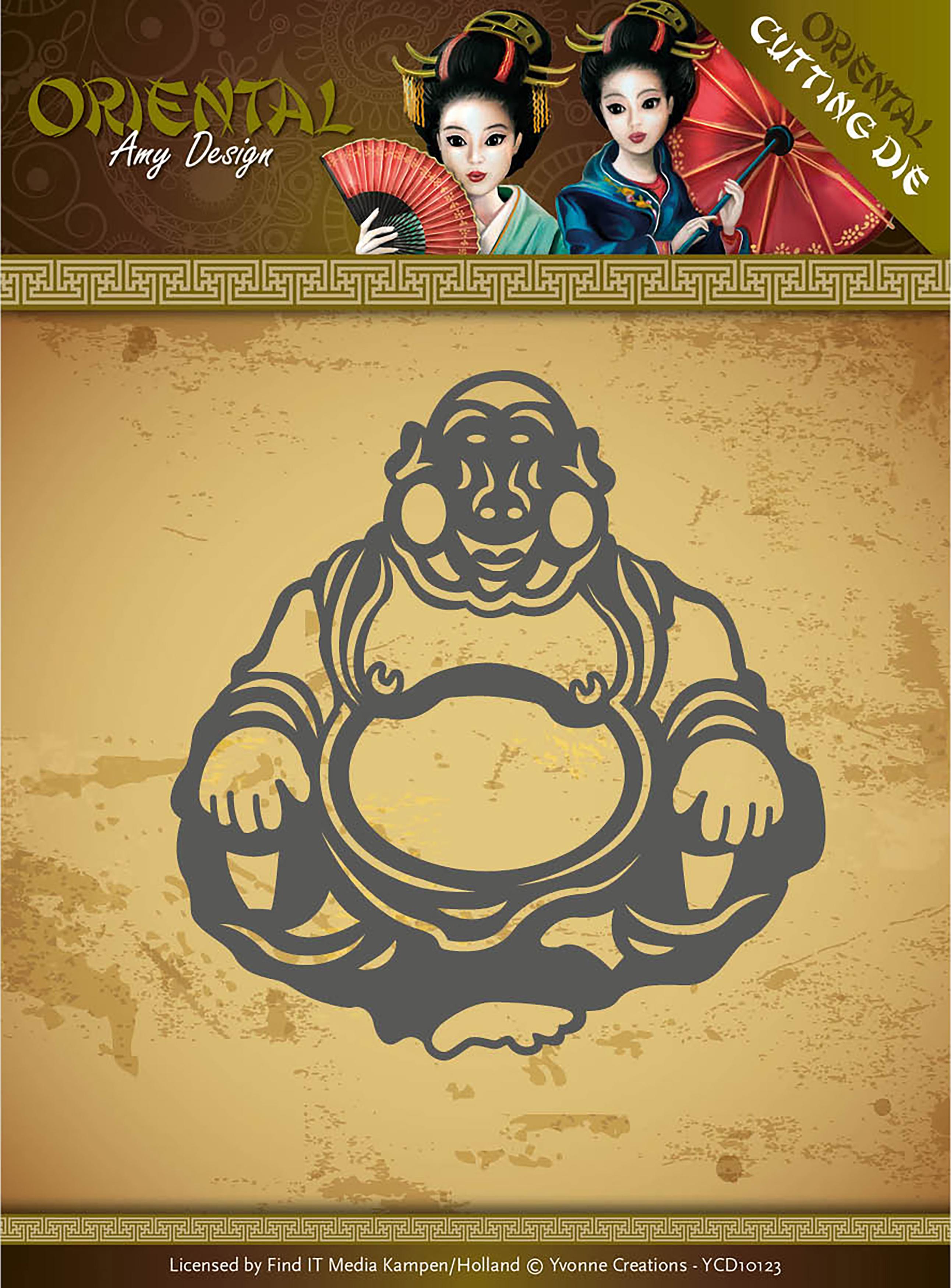 Happy Buddha - Find It Trading Amy Design Oriental Die