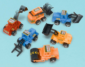 Pull Back Construction Vehicles - Party Favors 12/Pkg