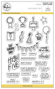 """Pause For Applause - Pinkfresh Studio Clear Stamp Set 4""""X6"""""""