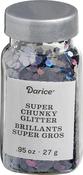 Iridescent Black - Darice Super Chunky Glitter .95oz