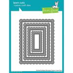 Stitched Scalloped Rectangle Frames Lawn Cuts - PRE ORDER