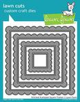 Stitched Scalloped Square Frames Lawn Cuts - PRE ORDER