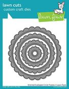 Stitched Scalloped Circle Frames Lawn Cuts - PRE ORDER