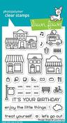 Village Shops Lawn Fawn Clear Stamps