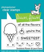 Sweetest Flavor Lawn Fawn Clear Stamps