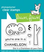 One In A Chameleon Lawn Fawn Clear Stamps