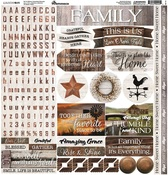 Country Life Elements Sticker Sheet - Reminisce - PRE ORDER