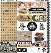 Love My Dog Alpha Sticker Sheet - Reminisce - PRE ORDER