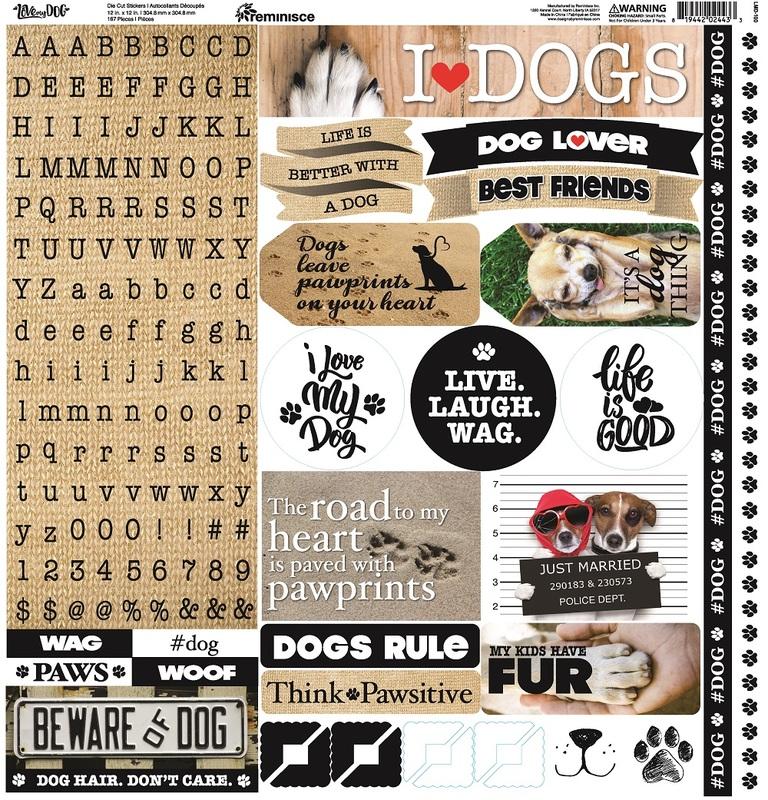 Love My Dog Alpha Sticker Sheet - Reminisce - Love My Dog