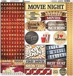 Movie Night Alpha Sticker - Reminisce