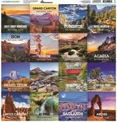 National Parks Square Sticker - Reminisce - PRE ORDER