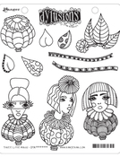 Three Little Maids Cling Stamps - Dylusions