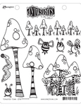 Toadstool Town Cling Stamps - Dylusions