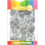 Let Love Grow Waffle Flower Stamp & Die Set - PRE ORDER