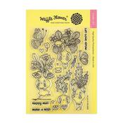 Let Love Grow Waffle Flower Crafts Clear Stamp