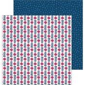 Flower Rows Paper - My Bright Life - Pebbles