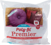 16  Round FOB: MI - Fairfield Poly-Fil Premier Accent Pillow Insert Fairfield-Poly-Fil Premier Ultra Plush Pillow Inserts. These pillow inserts have the look and feel of down and are a favorite among crafters and home designers. They are filled with 100% Ultra Plush polyester fiberfill and feature a cotton/polyester, high quality cover. They are wonderful for a variety of uses around your home. Perfect for adding a splash of color or a cozy spot when placed in the corners of your couch. The 16 inch round pillow inserts are perfect to accent other throw pillows, or as Bohemian cushions. Whether you use them together or apart they are the most versatile pillows you'll find. Made in USA.