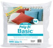 "14""X14"" FOB: MI - Fairfield Poly-Fil Basic Pillow Insert 2/Pkg"