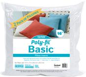 "16""X16"" FOB: MI - Fairfield Poly-Fil Basic Pillow Insert 2/Pkg"