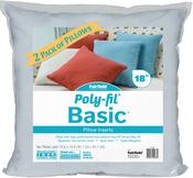 "18""X18"" FOB: MI - Fairfield Poly-Fil Basic Pillow Insert 2/Pkg"