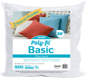 "20""X20"" FOB: MI - Fairfield Poly-Fil Basic Pillow Insert 2/Pkg"