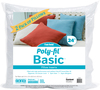 24 X24  FOB: MI - Fairfield Poly-Fil Basic Pillow Insert 2/Pkg Fairfield-Poly-Fil Basic Two Pack Pillow Inserts. These are perfect when you want to do some DIY or craft projects with your friends or family. Personalize them with fabric, faux fur, needlepoint, or a monogram, to add a special touch to your favorite spaces or give as gifts for those close to your heart. They are a quick, easy, and inexpensive way to change and refresh the look of a room in your house or use as holiday and seasonal decor. Poly-Fil Basic pillow forms are made of 100% polyester fibers with no added chemicals or flame retardants and have a non-woven polypropylene cover. Basic 24x24 inch two pack pillow inserts are mostly used for decorative and throw pillows. For the perfect fit your pillow cover should be an inch shorter than the pillow size. Made in USA.