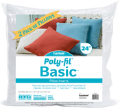 "24""X24"" FOB: MI - Fairfield Poly-Fil Basic Pillow Insert 2/Pkg"