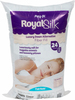 24oz Bag FOB: MI - Fairfield Poly-Fil Royal Silk Fiberfill Fairfield-Poly-Fil Royal Silk Fiberfill. For super huggable animals and downright heavenly pillows. Royal Silk luxury fiber fill is soft as down and provides a silky and smooth texture. Using virgin bright white siliconized polyester, it makes a perfect hypo-allergenic down alternative fill. Pillows made with Royal Silk will have the karate-chop look and feel, often desired by decorators. Non-Toxic Slick Gel Fiber. Made in USA.