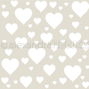 "Heart In The Middle - Alexandra Renke Stencil 6""X6"""