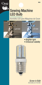 Clear W/Screw-In Base - Dritz Sewing Machine LED Screw-In Light Bulb