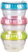 Multi-Colored Lids - ArtBin Twisterz Jar Set Small/Short 3/Pkg