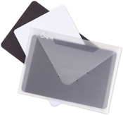"Sizzix Plastic Envelopes W/Magnetic Sheets 5""X6"" 3/Pkg"