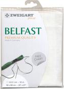 """White - Zweigart Belfast Premium Quality Linen 32 Count 19""""X27"""""""