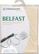 "Cream - Zweigart Belfast Premium Quality Linen 32 Count 19""X27"""