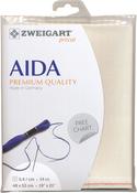 "Cream - Zweigart Aida Premium Quality 14 Count 19""X21"""