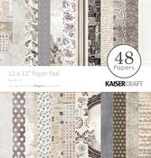 """Pen & Ink - Kaisercraft Paper Pad 12""""X12"""" 48/Pkg"""