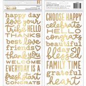 My Bright Life Gold Foil Phrase Thickers - Pebbles