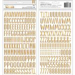 My Bright Life Gold Foil Alpha Thickers - Pebbles