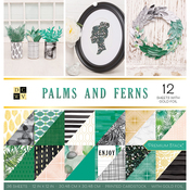 "Palms & Ferns - DCWV Double-Sided Cardstock Stack 12""X12"" 36/Pkg"