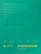 "Multi Color 90lb - Stonehenge Paper Pad 9""X12"" 15 Sheets/Pkg"