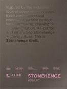 """Kraft 90lb - Stonehenge Paper Pad 9""""X12"""" 15 Sheets/Pkg"""