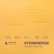 "Warm White 90lb - Stonehenge Paper Pad 8""X8"" 15 Sheets/Pkg"