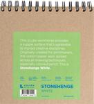 """White 90lb - Stonehenge Spiral Paper Pad 7""""X7"""" 32 Sheets/Pkg"""