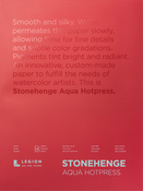 "White 140lb - Stonehenge Aqua Block Hot Press Pad 10""X14"" 15 Sheets/Pkg"