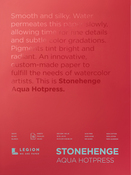 "White 140lb - Stonehenge Aqua Block Hot Press Pad 18""X24"" 15 Sheets/Pkg"