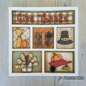 Thanksgiving - Foundations Decor Shadow Box Insert Kit